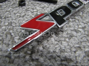 China Grill Emblem SPORTS grill badge for car decoration or accessories on sale