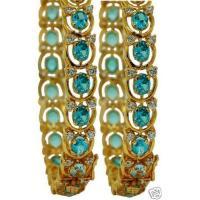 EXCLUSIVE BLUE TOPAZ DIAMOND BANGLE PAIR