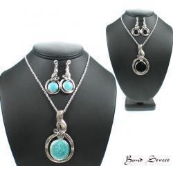 China 00507 Semi Precious Stone Necklace Set on sale