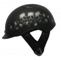 China DOT Shorty Vented Skull Pile Motorcycle Half Helmet on sale