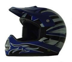 China DOT ATV Dirt Bike MX Blue Motorcycle Helmet on sale