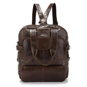 China 7065Q NWT Vintage Leather Men's Fashion Laptop Backpack Travel Handbag Messenger Bag on sale
