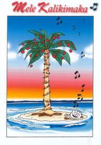 China Christmas Cards - Hawaiian Holidays - HF0030 / Palm Music Shell on sale