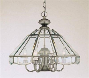 China Forte Lighting 3054-07-34 7 Light Chandelier, Antique Pewter on sale