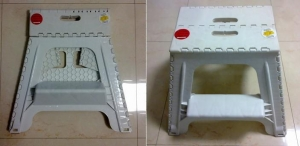 China Robust Plastic Folding Step Stool with big size on sale