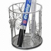 China Pencil/Pen Holder, Made of Stainless Steel Wire, Customized Designs are Accepted on sale