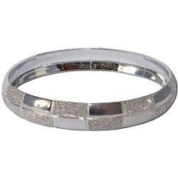 Bracelets Fashion Jewelry India Designer Rodium Plated Bangle Bracelets 2.25 inches (cban002)