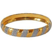 Bracelets Gold and Rodium Plated Bangle Bracelets Costume Jewelry in Indian-Style 2.3 inches