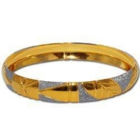 Bracelets Gold And Rodium Plated Bangle Bracelets Costume Jewelry in Indian-Style 2.5 inches
