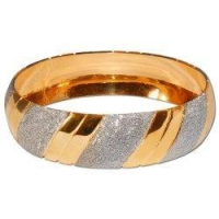 Bracelets Gold and Rodium Plated Bangle Bracelets Costume Jewelry in Indian-Style 2.25 inches