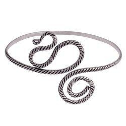 China Armlets Indian Jewellery Sterling Silver Arm Bracelet Armlet 3.25 inches on sale