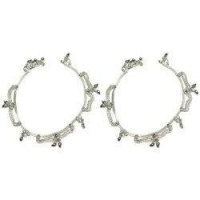 Anklets Sterling Silver Anklet Pair Indian Foot Jewelry 10.25 inches
