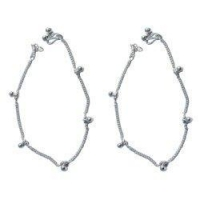 Anklets Silver Anklet Pair Foot Jewelry 10.5 inches