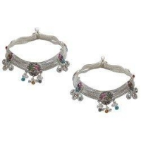 Anklets Womens Ankle Bracelets Pair Silver Foot Jewelry 10 inches