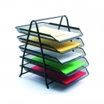 Five tire document tray