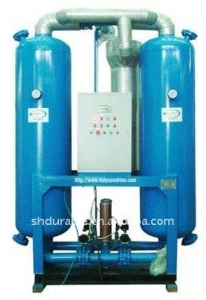 China Heatless purge desiccant compressed air dryer on sale