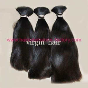 China Excellent quality remy raw human hair bulk on sale