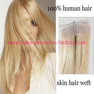 China Skin weft hair extension with no shedding on sale