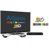 China Sharp LC46LE831E Quattron 3D LED TV - 3D Bundle for sale