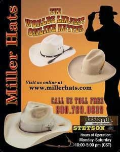 China Miller StrawCowboy Hats on sale