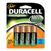 China Duracell AA Size Rechargeable NiMH batteries DC1500 - 8 Pack on sale