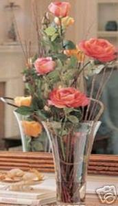 China ARTIFICIAL DECOR FLOWER ARRANGEMENT SILK 36 ROSE VASE on sale