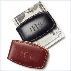 China Groomsmen Leather Money Clip on sale