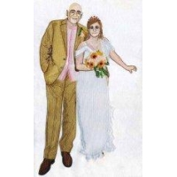 Embroidery digitizing personal wedding photo WHA11601 design service