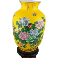 China-yellow Flower vase