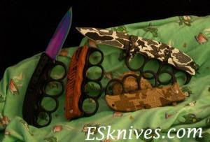 China U.S. 1918 World War II Spring Assist Knuckle Knife on sale