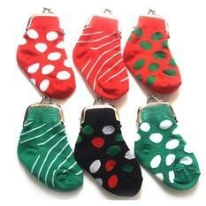 China Holiday Sock Coin Purse on sale