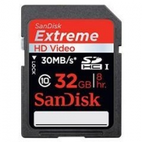 Sandisk Extreme HD Video 32GB SDHC Card Class 10 200X 30M/s