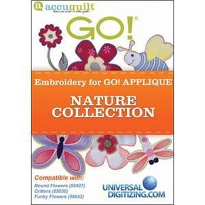 China AccuQuilt Go! & Go! Baby Embroidery Applique Nature Collection CD on sale