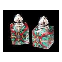 China Mini Salt & Peppers, .5 oz., Set of 2 - Regal Poinsettia Design on sale
