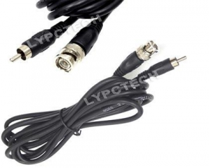 China 10 Ft RG59 BNC Male to RCA Male Video Audio Cable on sale
