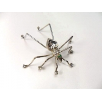 China Vintage Silver Rhinestone Spider Insect Brooch Pendant Pin on sale