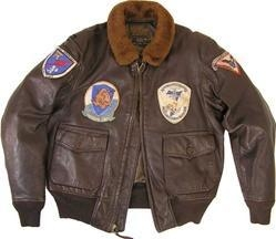 China Cockpit G-1 Vintage Goatskin Leather Flight Jacket on sale