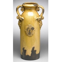 Leaf Design Vase in YellowItem #: 94115