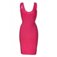 China Herve Leger Fuchsia Bandage Dress on sale