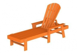 China South Beach Recycled Plastic Patio Chaise Lounge w ArmsItem #: 298008 on sale