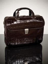 China Croco-Embossed Leather Ladies' Laptop Briefcase on sale