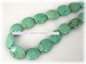 China 13*22mm blue oval turquoise strands wholesale on sale