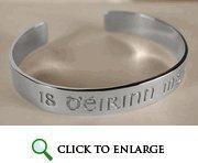 China I am of Ireland Silver Bangle Bracelet on sale
