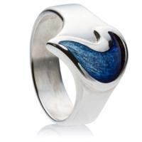 Celtic Teardrop, Silver & Enamel Ring