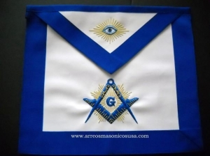 China 1 Master Mason Blue Lodge Aprons on sale