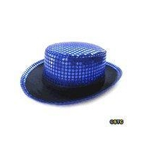 Blue Sequin Top Hat
