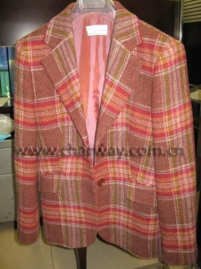 China Men's Striated Wool Coat on sale