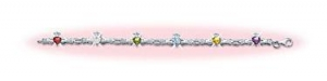 China Sterling Silver Claddagh And Gemstone Bracelet on sale
