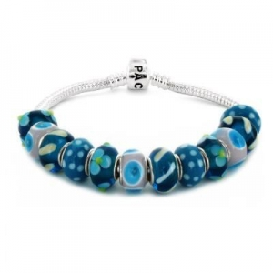 China Coastal Creations Beads Heart Throb on 7 Inch 925 Sterling Silver Bracelet with Barrel Clasp on sale