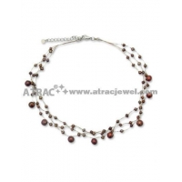 Small coffee pearl necklace